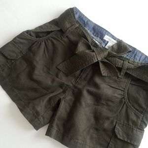 Banana Republic Tie Shorts Olive Green